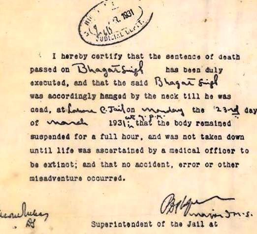 BhagatSingh_DeathCertificate