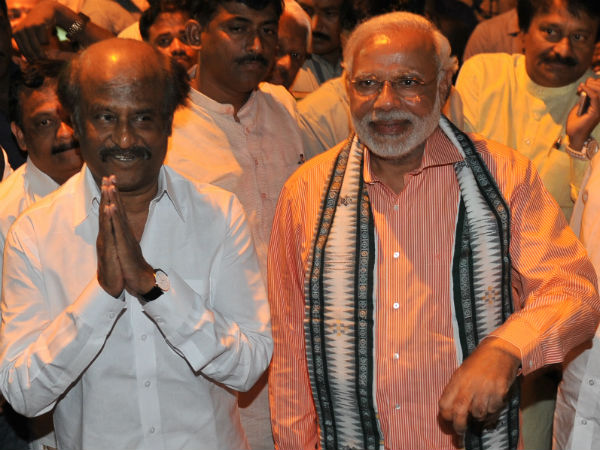 rajini and modi- over a cup of tea