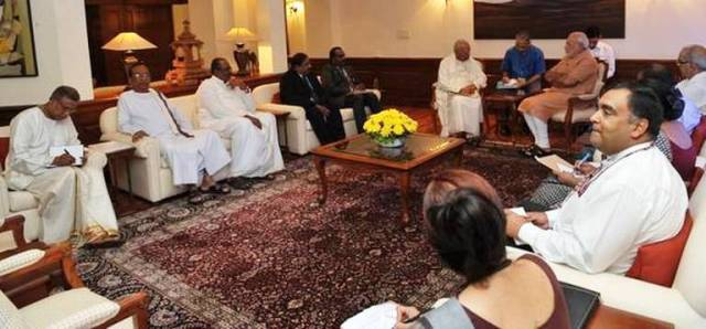 prime minister with tna leaders
