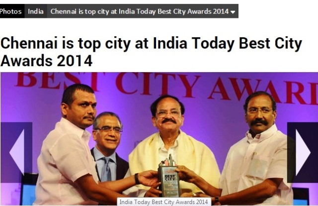 chennai award-tropy presented