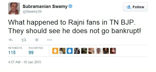 swamy on rajini....edited