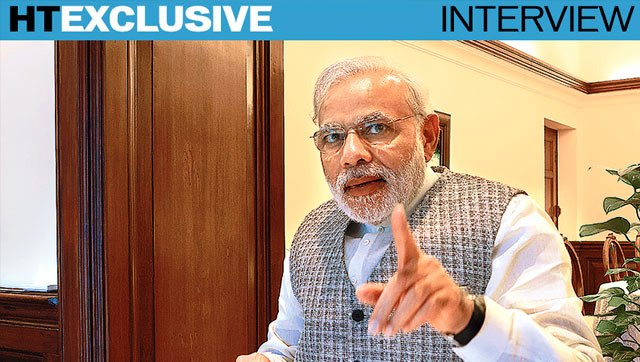 ht interview with modiji