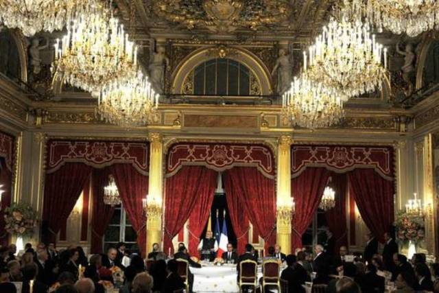 modiji  in paris banquet