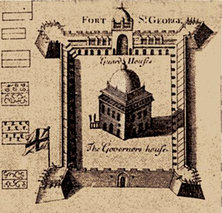 fort st. george in 1640