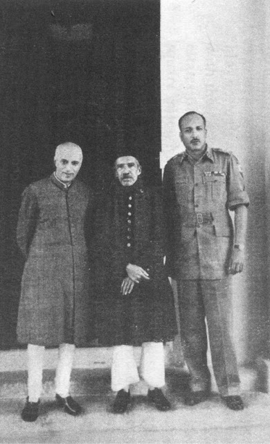 nehru -nizam and jn choudhry