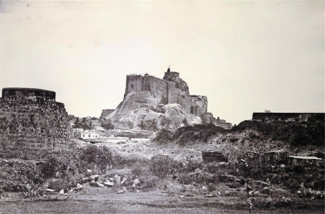 Tiruchirapalli-Rock-Fort,-1858