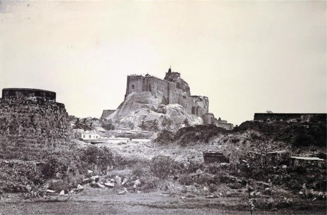 Tiruchirapalli-Rock-Fort,-1858