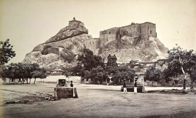 Tiruchirapalli-Rock-Fort,-1869