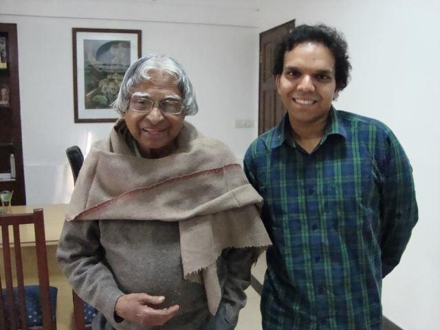 Srijan Pal Singh  with kalam sir