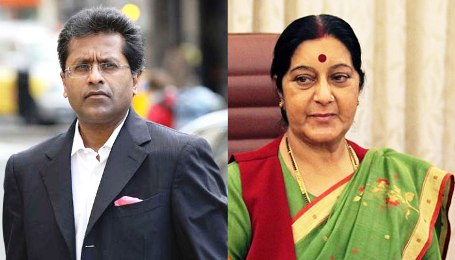 lalit with sushmaaji