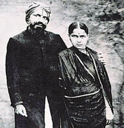 bharathi with his wife chellammal