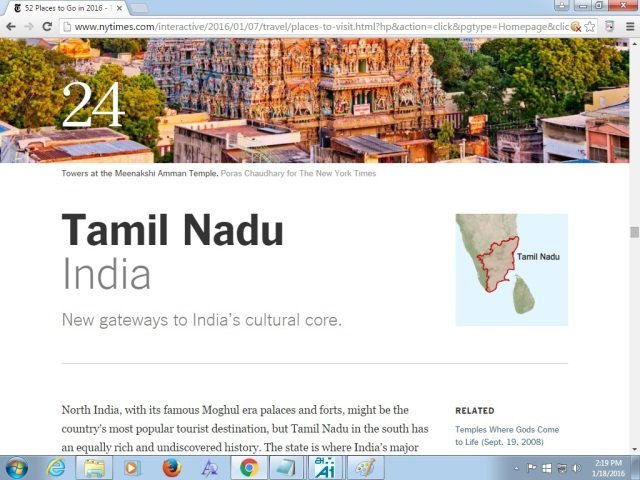 24th place -tamil nadu - india