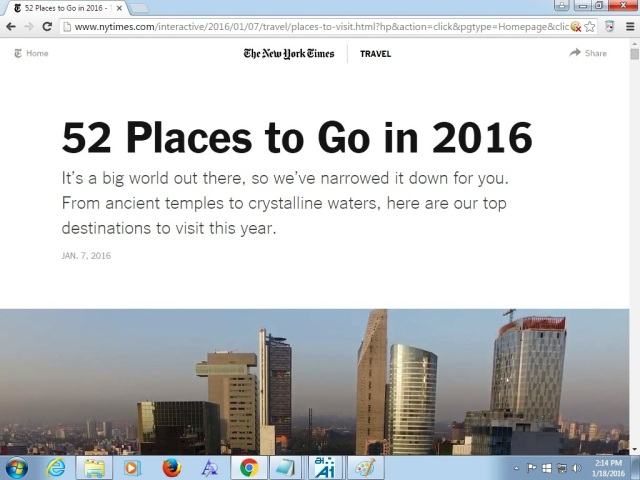 52 places to go
