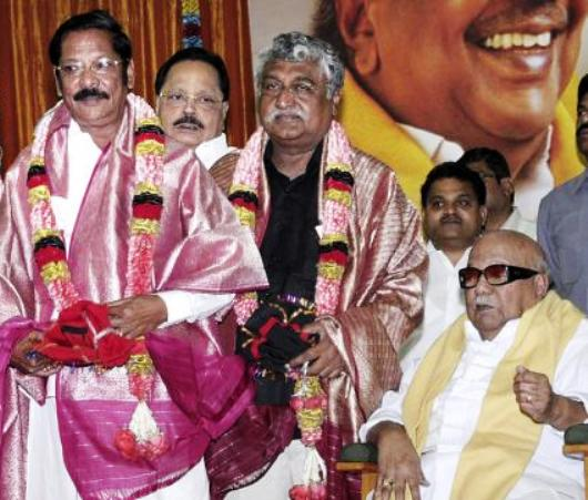 rs bharathi with kalaignar