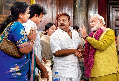 vijaykanth and modiji