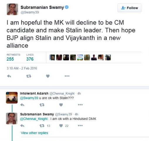 dr.swamy tweet