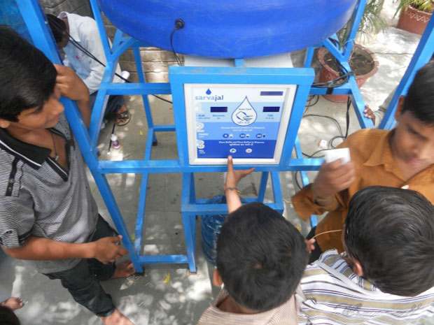 solar powered water atms