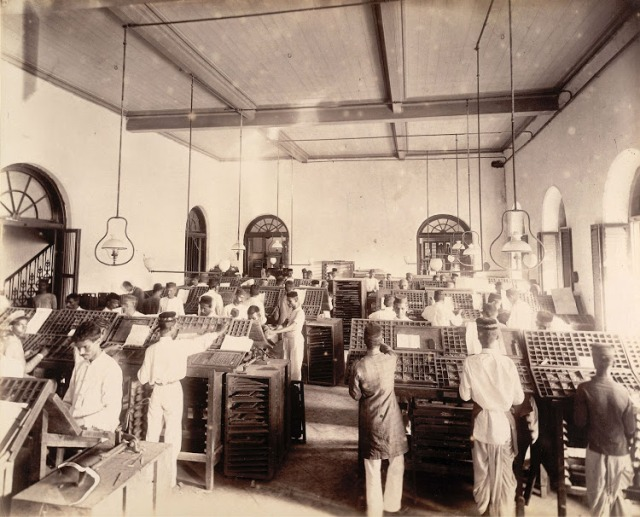 10-News-composing-room-in-Times-of-India-Office-in-Bombay-(Mumbai)--November-1898