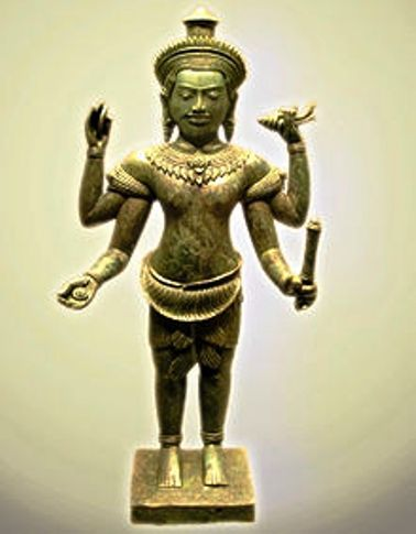 11th cen.bronze statue of vishnu