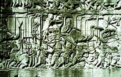 archers mounted on elephants