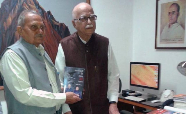 advani with the author