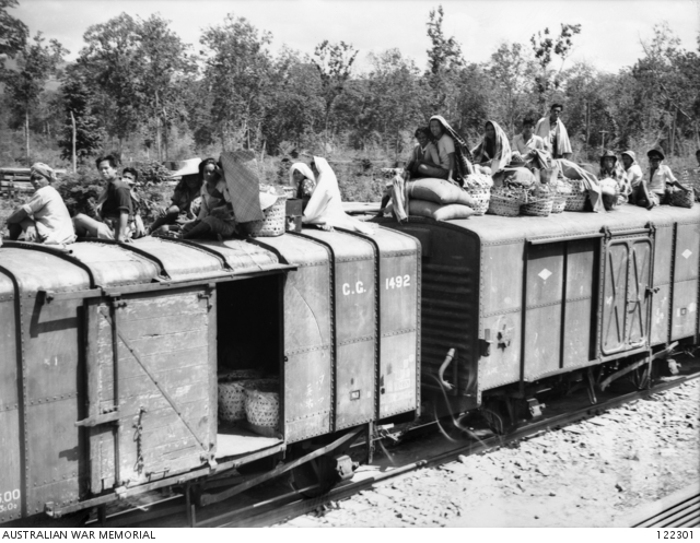 Trucks identical to these were used to transport prisoners of war (POWs) from Singapore to Thailand for the construction of the railway
